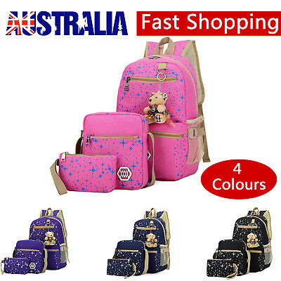 Women Bags School Girl Bookbags Shoulder Bag Rucksack Canvas Travel Bag