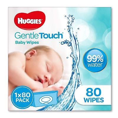HUGGIES Gentle Touch Baby Wipes, 80 Pack | Free Delivery