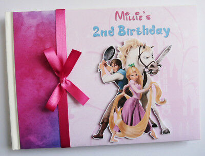 Personalised Tangled Rapunzel Girls Birthday Guest Book - Any Design