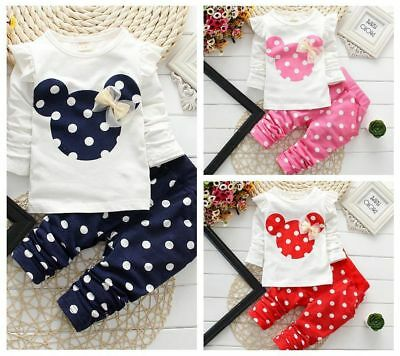 Baby clothes kids girls tops+pants Set Outfits autumn spring clothing dot cotton