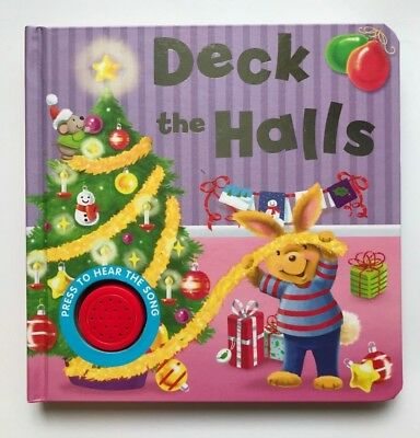 Deck The Halls Musical Sound and Sing Along Book For Kids ages 0 months+, New!!!