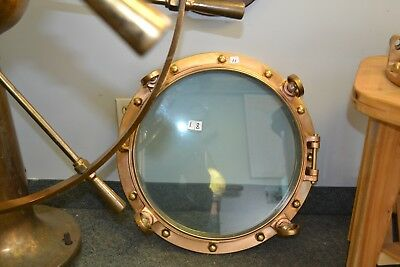 FREIGHTER Vintage  PORT HOLE FROM  E M FORD 1898