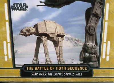 2017 Topps Star Wars 40th Anniversary - battle of hoth (gold #27) + 6 cards