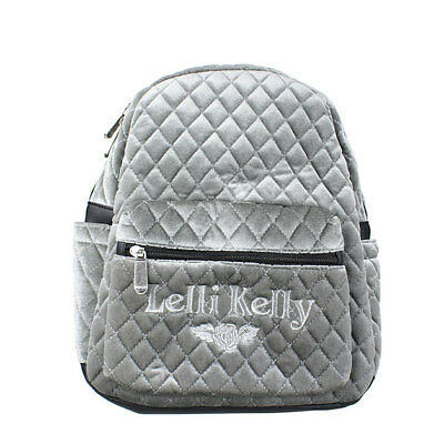 Lelli Kelly LK 8399 Quilted Back Pack In Silver-Grey