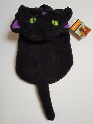 Dog Halloween Witches Black Cat Fancy Dress Outfit Costume with Hood