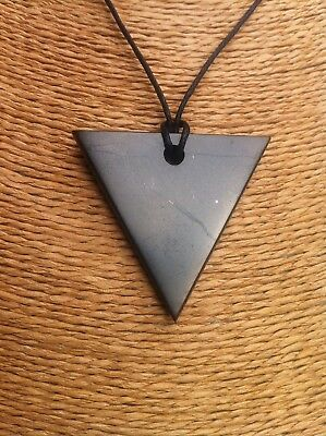 SHUNGITE pendant Strength EMF EMR protection necklace Heals 🎁free Gift Wrapped