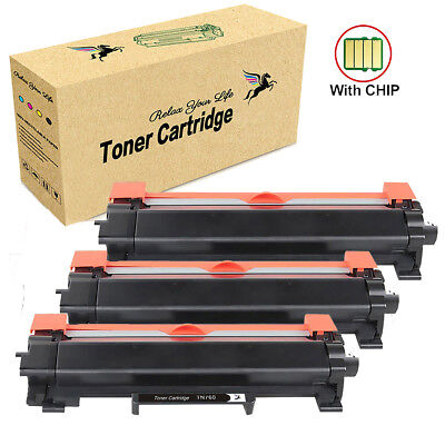 3PK TN760 Toner with Chip (TN730) for Brother HL-L2350DW DCP-L2550DW MFC-L2710DW