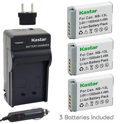NB-13L Battery OR Normal Charger for Canon PowerShot SX620 HS, SX740 HS, G5 X