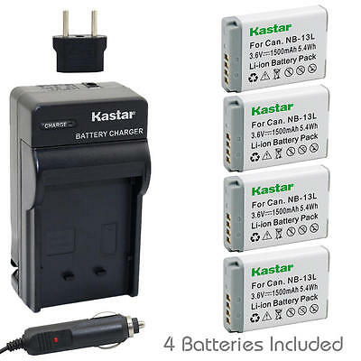 NB-13L Battery and Normal Charger for Canon PowerShot SX740 HS, G1 X Mark III