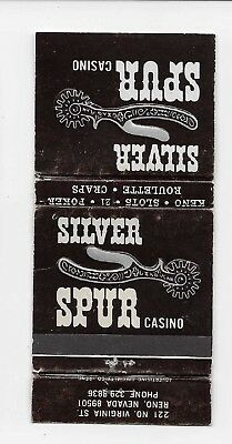 Vintage Matchbook Cover Adv Silver Spur Casino in Reno, Nevada