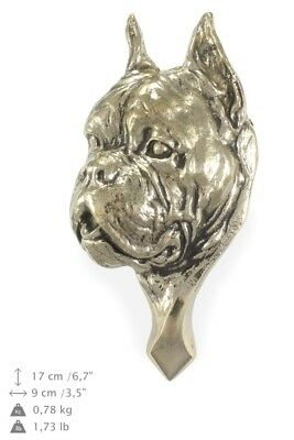 Boxer - brass door knocker with image of a dog, Art Dog UK