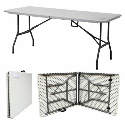 Heavy Duty 6Ft Folding Catering Camping Trestle Picnic Dinner Party Table 1.8M