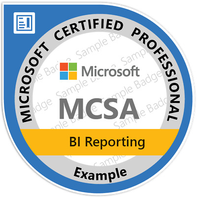 MCSA BI Reporting, Exams 70-778, 70-779, Practice Q&A PDF ONLY