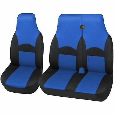 Ohio Style Black Blue Van Seat Cover Set For VOLLKSWAGEN VW CRAFTER CR35