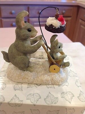 """Charming Tails """"Christmas Stroll"""" By Fitz & Floyd Perfect Collectible"""