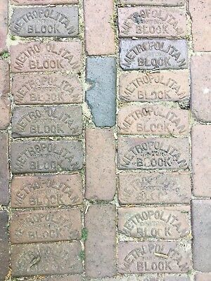 1 Antique Metropolitan Block Street Paver Brick From Sheboygan, WI! • GUC!