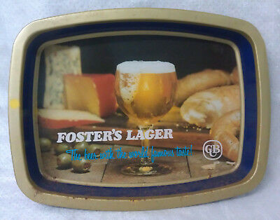 FOSTERS LAGER Retro CUB beer tray high sides metal construction Carlton United