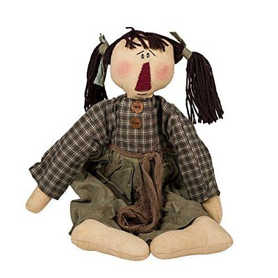 """NEW!! Primitive Country Vintage  16/"""" Fabric /"""" MOLLY/"""" Rag Doll By Honey /& Me"""