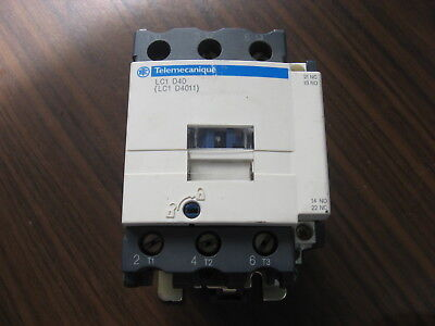 Telemecanique LC1 D4011  Contactor With 120 Volt Coil-Nice Contacts
