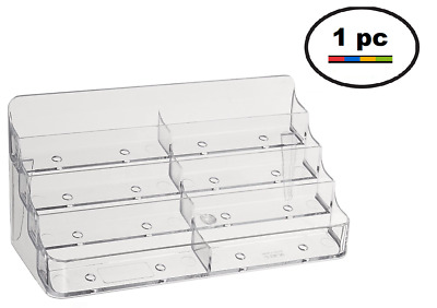 8 pocket clear acrylic business card holder stand FREE SHIPPING