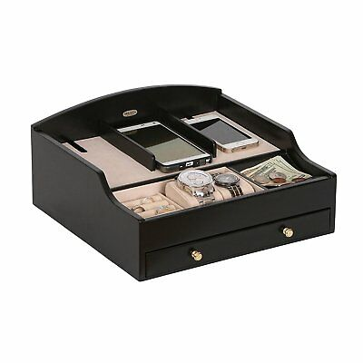 Ricardo Wooden Charging Station (1 Drawer, Java Finish)