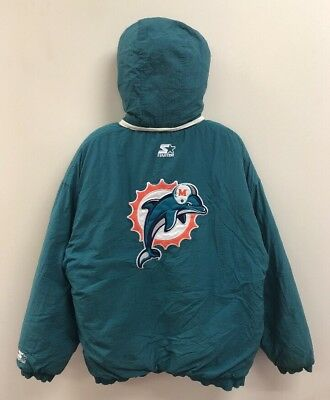 28e993518 VINTAGE HOUSTON OILERS Starter Size Large Insulated Pullover Jacket ...