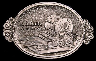 Oe20150 *nos* 1979 **a.b. Dick Company** Mimeograph Copy Machine Pewter Buckle