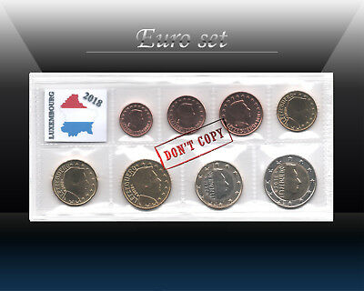 LUXEMBOURG complete EURO SET 2018 - 8 coins SET (1 cent - 2 Euro) UNCIRCULATED