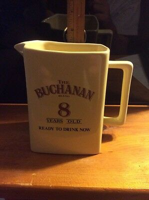 Whisky Pitcher by Buchanan's  8 yr old Scotch Whisky  Ready to Drink Now