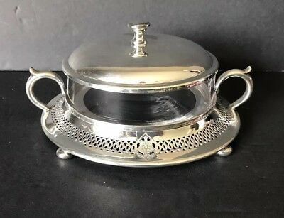 Meriden SP.Co Silver Plated Caviar Or Jelly Dish
