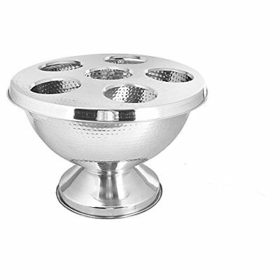 Kosma Stainless Steel Punch Bowl with Lid | Champagne Cooler Wine Party Tub...
