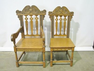 Two Beautifully Crafted Late 19th Century Solid Oak Lodge Chairs; Exceptional