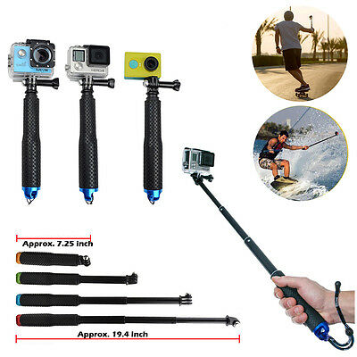 for Gopro Handheld Tripod Monopod Waterproof Hero  4 3+ SJ400 Selfie Stick Po