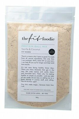 THE FIT FOODIE Van. Coconut Protein Ball Mix 185g