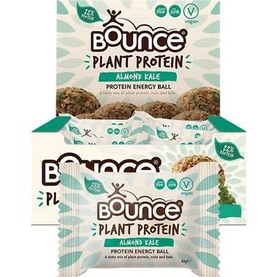 BOUNCE Energy Balls - Plant Protein Almond Kale (Box Of 12) 12x40g