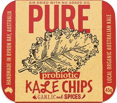 EXTRAORDINARY FOODS Garlic & Spices Kale Chips 45g