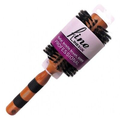 Professional Wooden Large Radial Bristle Boar Curling Hair Brush  **BRAND NEW**