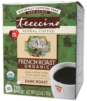 Teeccino French Roast Coffee Bags 10 bags