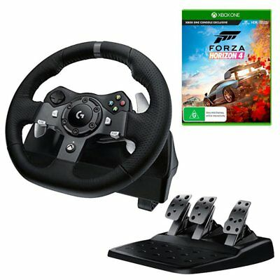 Logitech G920 Driving Force Racing Wheel with Forza Horizon 4 Bundle NEW