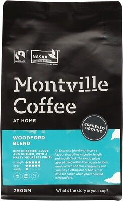 MONTVILLE COFFEE Coffee Ground (Espresso) Woodford Blend 250g