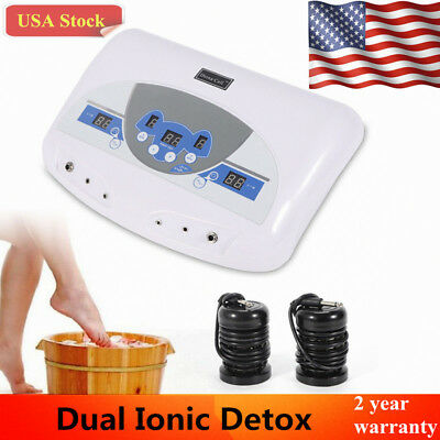 Dual Ionic Detox Ion Foot Spa Bath Ion Cell Cleanse Machine+Infrared Wrist Band