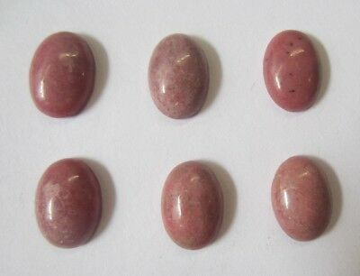 6pcs Rhodonite Calibrated Oval Cabochon 10x12 10x14 12x16 13x18 15x20 Gemstones