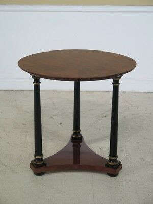 F29127C: French Empire Round Mahogany Occasional Table