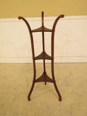 F28944: Unusual 3 Tier Mahogany Fern Stand Or Occasional Table