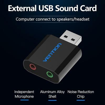 Vention Sound Card USB to 3.5mm Jack Female Headphone External Audio Card for PC