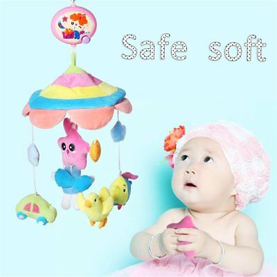 Rotary Baby Kids Crib Mobile Bed Bell Toy Holder Arm Bracket Wind-up Music Box E