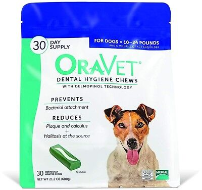 Oravet Merial Dental Hygiene Chew For Dogs 10-24lbs, 30 Count (Discontinued By