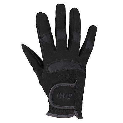 Qhp Multi Unisex Gloves Everyday Riding Glove - Black All Sizes