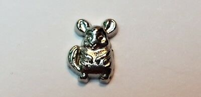 Chinchilla Chinchillidae Floating Animal Charm for Memory Locket US seller fc285