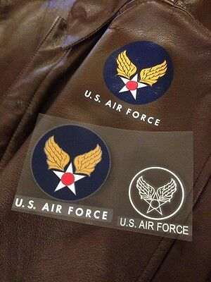 US AIR FORCE / USAF DECAL for POST WW II, KOREAN WAR A-2 leather flight jacket.